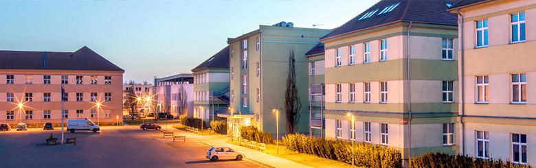 Kampus - budovy FLKŘ UTB v Uherském Hradišti